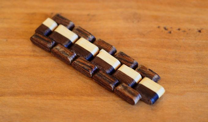 木製手作り腕時計ベルト